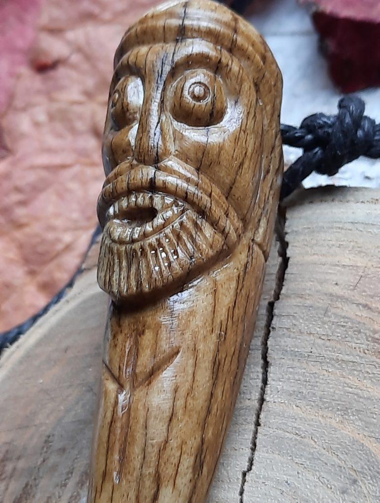Odin_Viking_amulet_Norse_God Hand-carved antler
